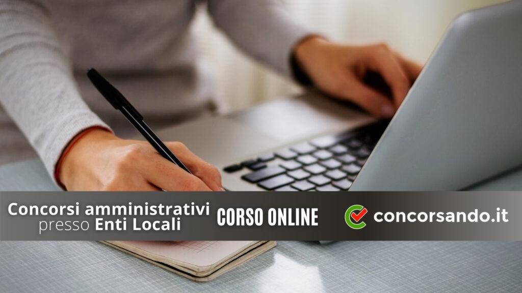 Concorsi Amministrativi presso enti locali